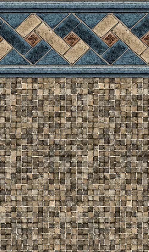 Tan Mountain Top Tan Mosaic Liner National Pools New Jersey