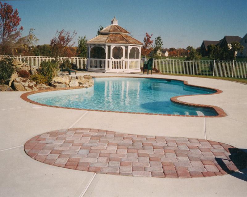 gazebo Concrete Pool National Pools & Spas New Jersey