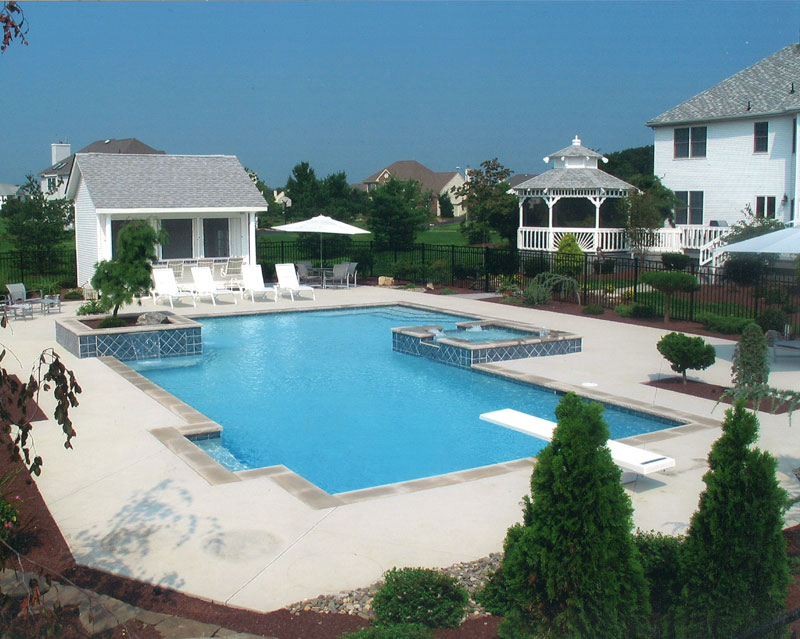 Concrete Pool diving board National Pools & Spas New Jersey