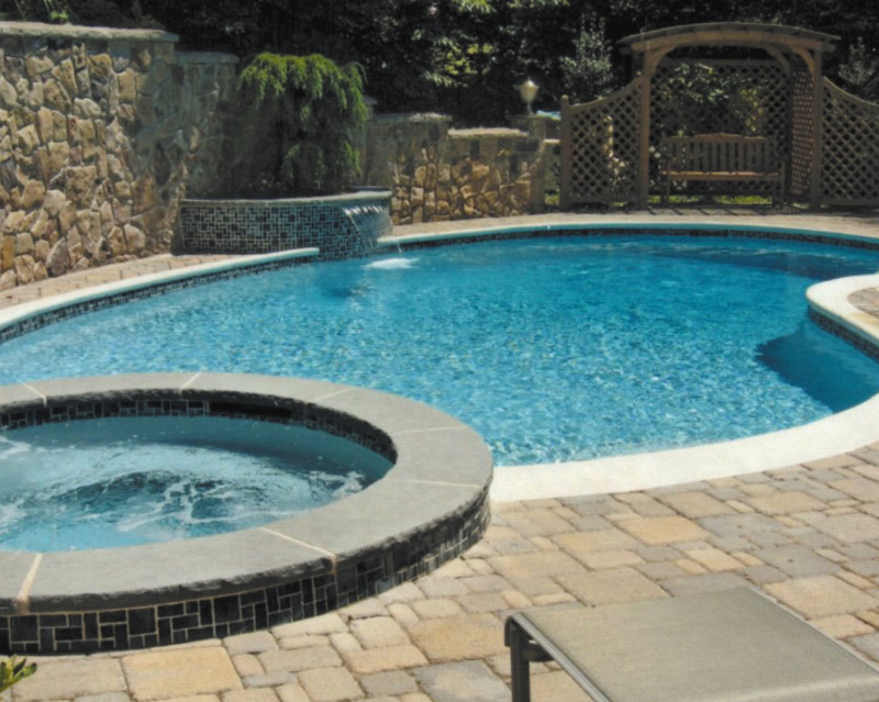 Concrete Pool paver patio in New Jersey