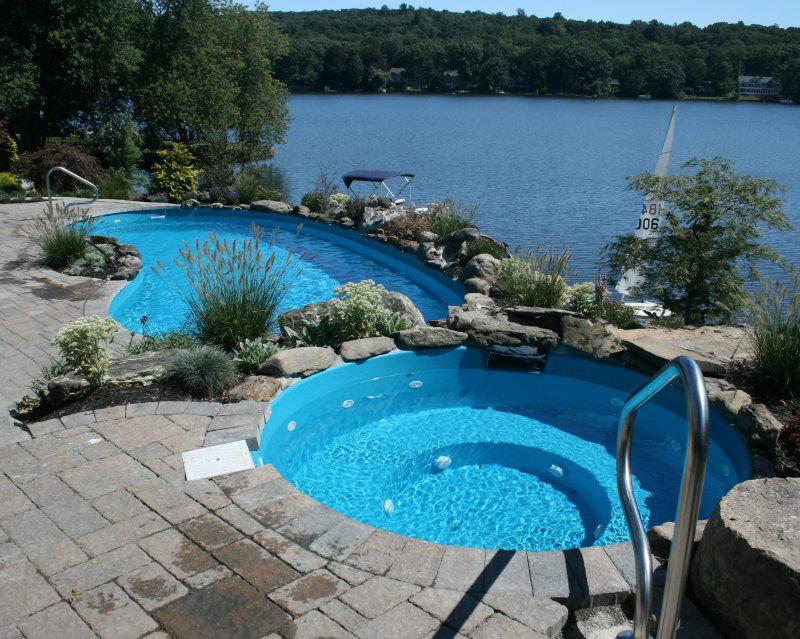 fiberglass kidney pool in New Jersey