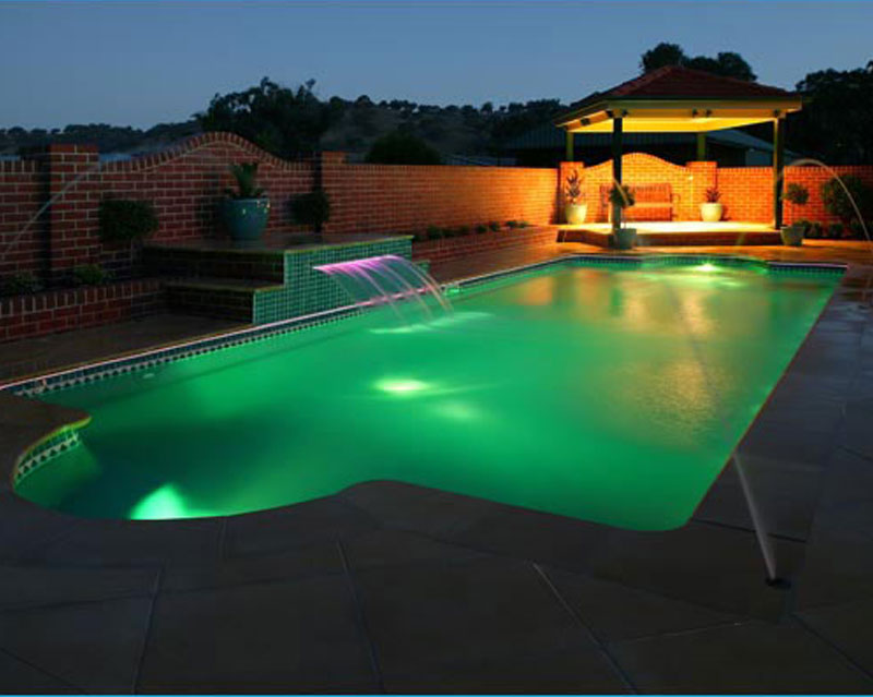 Fiberglass Pool lighting in New Jersey