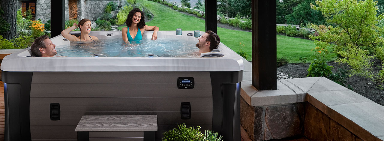 The Woodstock elite hot tub in New Jersey