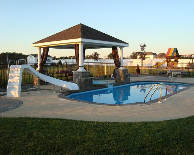 Fiberglass pool hot tub canopy in New Jersey