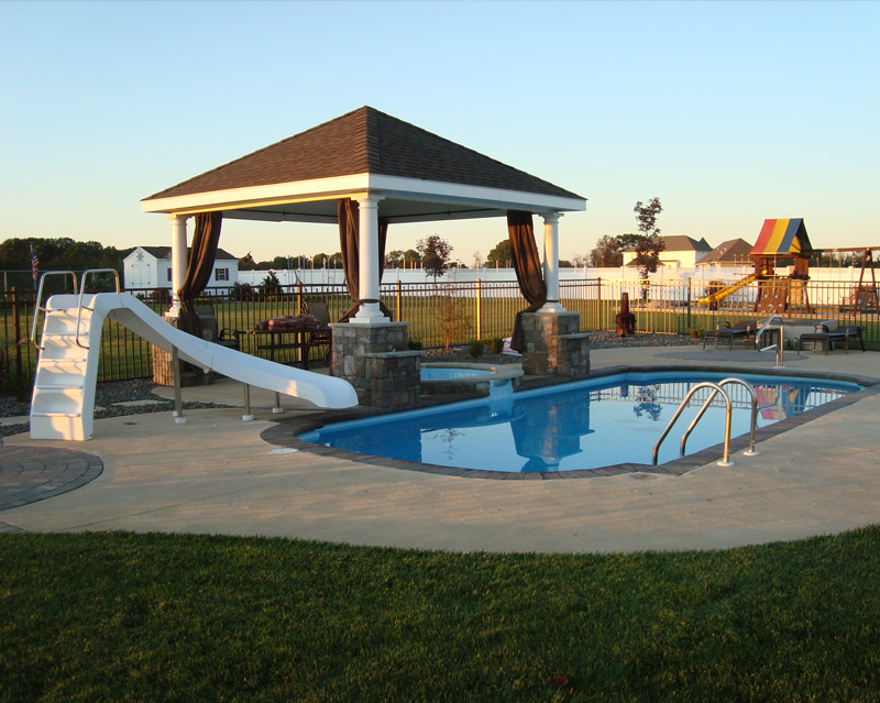 Fiberglass pool hot tub canopy in New Jersey