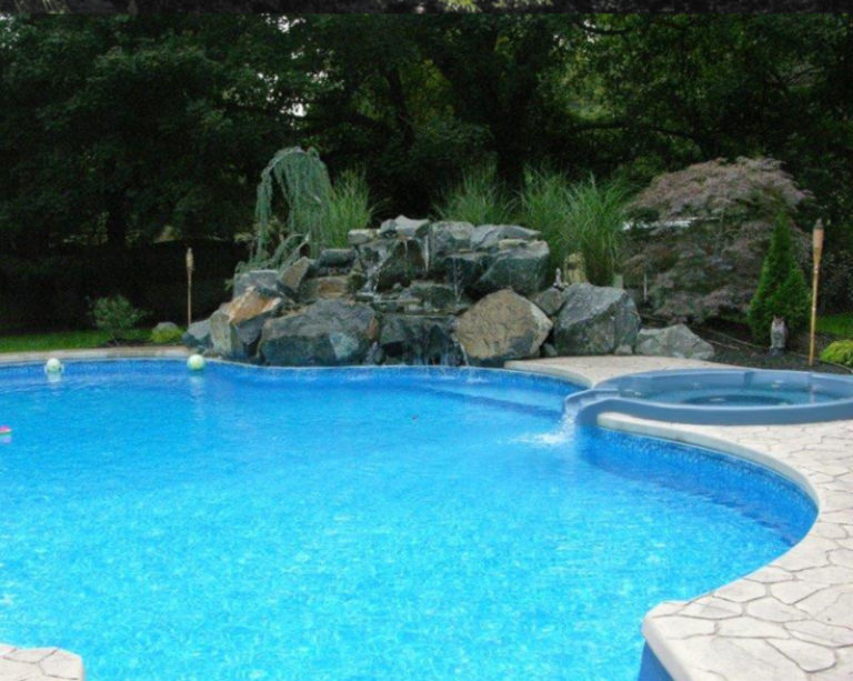 pool waterfall National Pools & Spas New Jersey