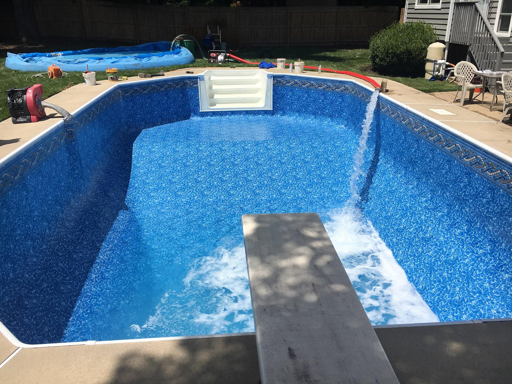 National Pools new pool liner