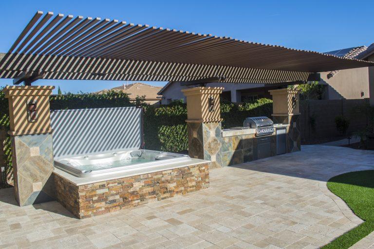 Private Sundance Spas hot tub installation outside.
